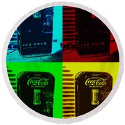Coke Poster Round Beach Towel