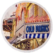 Cold Drinks Round Beach Towel