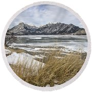 Cold Landscapes Round Beach Towel