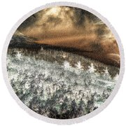 Cold Mountain Round Beach Towel