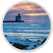 Cold Pastels Round Beach Towel
