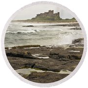Cold Waves Of Northumberland Round Beach Towel