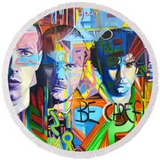 Coldplay Round Beach Towel