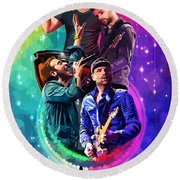 Coldplay Mylo Xyloto Round Beach Towel by FHT Designs