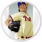 Cole Hamels Round Beach Towel