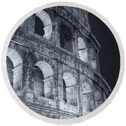 Colosseum Before Dawn Round Beach Towel