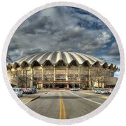 Coliseum Daylight Hdr Round Beach Towel