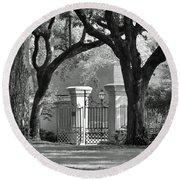 College Of Charleston Gate Round Beach Towel
