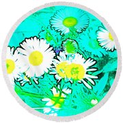 Round Beach Towel featuring the photograph Color 7 by Pamela Cooper