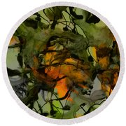 Color Abstraction Xvii Round Beach Towel by David Gordon
