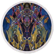 Color Abstraction Xxi Round Beach Towel by David Gordon