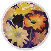 Color And Whimsy Round Beach Towel by Marilyn Jacobson