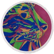Color Cat I Round Beach Towel by Pamela Clements