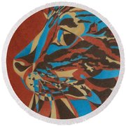 Color Cat II Round Beach Towel by Pamela Clements