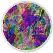 Color Dream Play Round Beach Towel