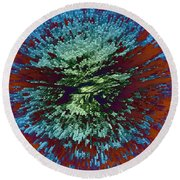 Color Extrusion Round Beach Towel