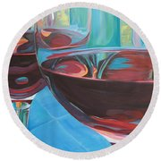 Color Flow Round Beach Towel