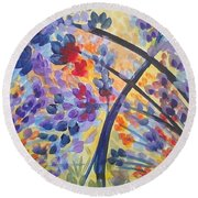 Color Flurry Round Beach Towel by Holly Carmichael
