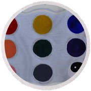 Color From The Series The Elements And Principles Of Art Round Beach Towel