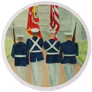 Color Guard Round Beach Towel