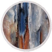Color Harmony 06 Round Beach Towel by Emerico Imre Toth