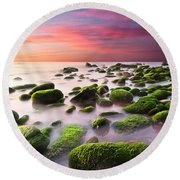 Color Harmony Round Beach Towel