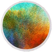 Color Infinity - Abstract Art By Sharon Cummings Round Beach Towel