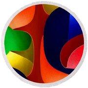Round Beach Towel featuring the digital art Color Maze by Rafael Salazar