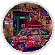 Color On The Road In Krakow- Poland Round Beach Towel