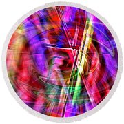 Round Beach Towel featuring the photograph Color Play by Kellice Swaggerty