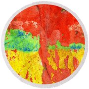 Color Splash  Round Beach Towel by Prakash Ghai
