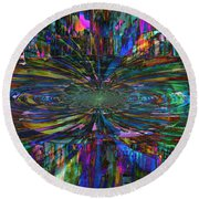 Color Swirl Round Beach Towel