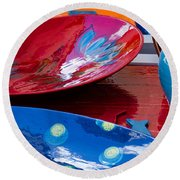 Round Beach Towel featuring the photograph Color Your Life 4 by Dany Lison