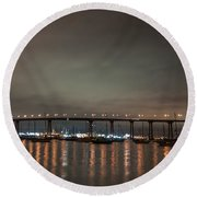 Round Beach Towel featuring the photograph Coronado Bridge San Diego by Gandz Photography