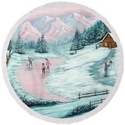 Colorado Christmas Round Beach Towel