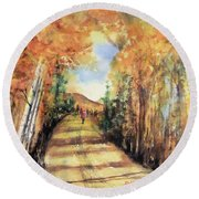 Colorado In September Round Beach Towel