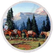 Colorado Outfitter Round Beach Towel