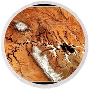 Colorado Plateau Nasa Round Beach Towel