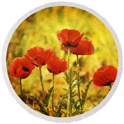 Round Beach Towel featuring the photograph Colorado Poppies by Tammy Wetzel