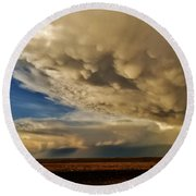 Round Beach Towel featuring the photograph Colorado Supercells by Ed Sweeney