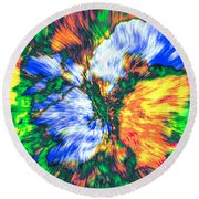Round Beach Towel featuring the photograph Colorful Bouquet by Kellice Swaggerty