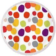 Colorful Confetti  Round Beach Towel