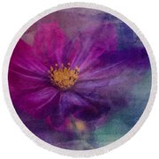 Colorful Cosmos Round Beach Towel