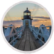 Colorful Ending Round Beach Towel