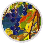 Colorful Expressions  Round Beach Towel