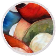 Colorful Lights Round Beach Towel