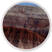 Colorful Mountain Round Beach Towel