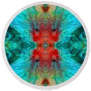 Colorful Patterns - Life Circles - By Sharon Cummings Round Beach Towel