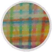 Colorful Plaid Round Beach Towel