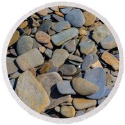 Colorful River Rocks Round Beach Towel